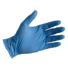 Powder Free Blue Vinyl Disposable Gloves - Box of 100
