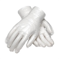 Polythene Disposable Embossed Gloves - clear Large In Cardboard