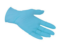 Powder Free Blue Nitrile Disposable Gloves - Box of 100